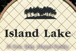 sign for Island Lakes