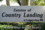 sign for The Estates of Country Landing