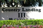 sign for Country Landing III
